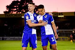 Ollie Clarke of Bristol Rovers and Tyler Smith of Bristol Rovers prior to kick off - Mandatory by-line: Ryan Hiscott/JMP - 17/09/2019 - FOOTBALL - Memorial Stadium - Bristol, England - Bristol Rovers v Gillingham - Sky Bet League One