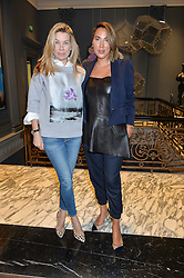Left to right, PIPPA VOSPER and ALEX MEYERS at a preview of Bionda Castana's new season's shoes hosted by Alex Meyers and Bionda Castana and held at The Arts Club, 40 Dover Street, London on 4th March 2015.