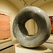Grey Sun (1967) by Isamu Noguchi at the Donald W. Reynolds Center for American Art and Portraiture in downtown Washington DC.