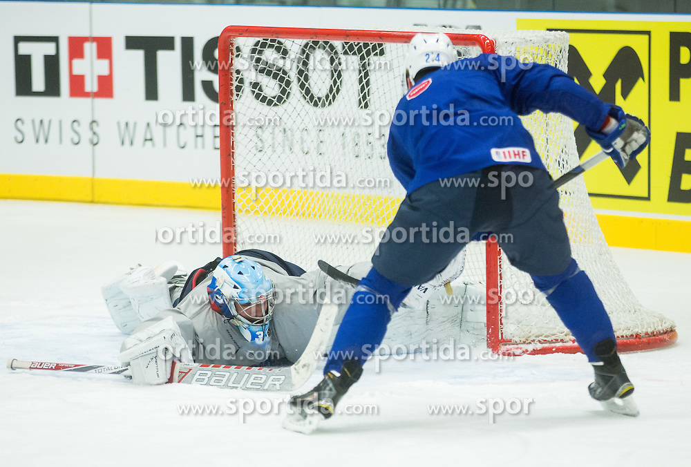 Robert Kristan during practice session of Slovenian National Ice Hockey Team 1 day prior to the 2015 IIHF World Championship in Czech Republic, on April 30, 2015 in Practice arena Ostrava, Czech Republic. Photo by Vid Ponikvar / Sportida