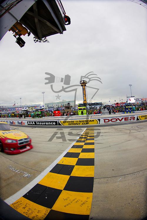 DOVER, DE - OCT 02, 2011:  Kurt Busch (22) wins the AAA 400 race at the Dover International Speedway in Dover, DE.