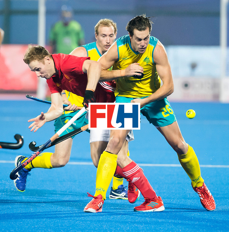 BHUBANESWAR - The Odisha Men's Hockey World League Final . Match ID 09 .  Australia v England  .Dylan Wotherspoon (Aus)    WORLDSPORTPICS COPYRIGHT  KOEN SUYK