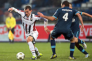 Onderwerp/Subject: Willem II - Feyenoord - Eredivisie<br /> Reklame:  <br /> Club/Team/Country: <br /> Seizoen/Season: 2012/2013<br /> FOTO/PHOTO: Aurelien JOACHIM (L) of Willem II in duel with Joris MATHIJSEN (R) player number 4 of Feyenoord. (Photo by PICS UNITED)<br /> <br /> Trefwoorden/Keywords: <br /> #04 #21 $94 &plusmn;1354627667242<br /> Photo- &amp; Copyrights &copy; PICS UNITED <br /> P.O. Box 7164 - 5605 BE  EINDHOVEN (THE NETHERLANDS) <br /> Phone +31 (0)40 296 28 00 <br /> Fax +31 (0) 40 248 47 43 <br /> http://www.pics-united.com <br /> e-mail : sales@pics-united.com (If you would like to raise any issues regarding any aspects of products / service of PICS UNITED) or <br /> e-mail : sales@pics-united.com   <br /> <br /> ATTENTIE: <br /> Publicatie ook bij aanbieding door derden is slechts toegestaan na verkregen toestemming van Pics United. <br /> VOLLEDIGE NAAMSVERMELDING IS VERPLICHT! (&copy; PICS UNITED/Naam Fotograaf, zie veld 4 van de bestandsinfo 'credits') <br /> ATTENTION:  <br /> &copy; Pics United. Reproduction/publication of this photo by any parties is only permitted after authorisation is sought and obtained from  PICS UNITED- THE NETHERLANDS