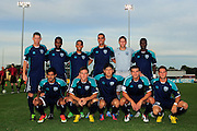 VSI Tampa Bay FC starters team photo against Antigua Barracuda in a USL Pro soccer match at Plant City stadium in Plant City, Florida on June 7, 2013. VSI won 8-0.<br /> <br /> ©2013 Scott A. Miller