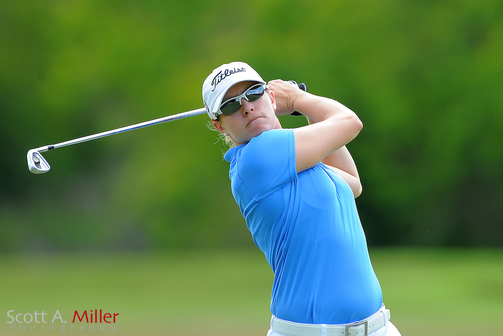 Leah Wigger during the final round of the Symetra Tour's Florida's Natural Charity Classic at the Lake Region Yacht and Country Club on March 25, 2012 in Winter Haven, Fla. ..©2012 Scott A. Miller.