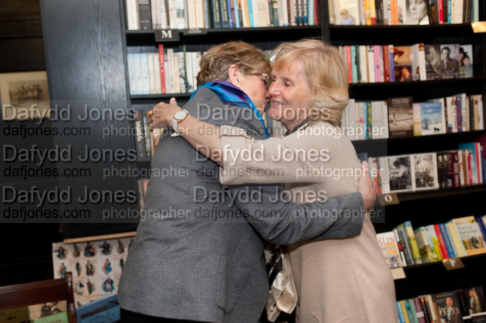 PRUE LEITH; ALISON LANGAN, Relish: My Life on a Plate by Prue Leith. Hatchards. Piccadilly, London. 14 March 2012.