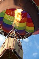 Hot Air Balloon Picture, Flames in Hot Air Balloon, Rising Hot Air Balloon