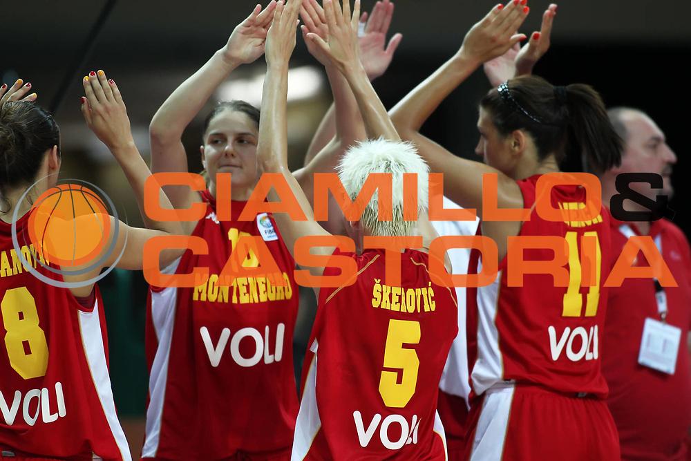 DESCRIZIONE : Katowice Poland Polonia Eurobasket Women 2011 Round 2 Croazia Montenegro Croatia Montenegro<br /> GIOCATORE : Jelena Dubljevic  Jelena Skerovic Milka Bjelica Milica Jovanovic<br /> SQUADRA : Montenegro<br /> EVENTO : Eurobasket Women 2011 Campionati Europei Donne 2011<br /> GARA : Croazia Montenegro Croatia Montenegro<br /> DATA : 22/06/2011<br /> CATEGORIA : <br /> SPORT : Pallacanestro <br /> AUTORE : Agenzia Ciamillo-Castoria/E.Castoria<br /> Galleria : Eurobasket Women 2011<br /> Fotonotizia : Katowice Poland Polonia Eurobasket Women 2011 Round 2 Croazia Montenegro Croatia Montenegro<br /> Predefinita :