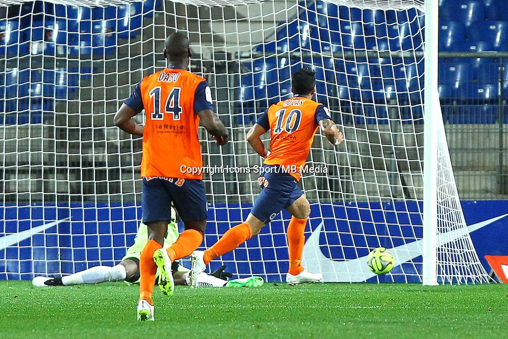 But Lucas Barrios - 14.03.2015 - Montpellier / Reims - 29eme journee de Ligue 1<br /> Photo : Andre Delon / Icon Sport