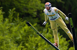 Jure Bogataj (SLO) of SK Triglav Kranj during Ski Jumping Summer Continental Cup in Kranj, on July 2, 2011, in Kranj, Slovenia. (Photo by Vid Ponikvar / Sportida)