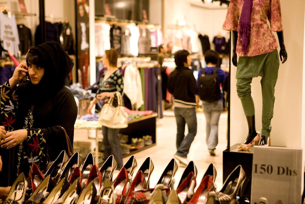 """Dubai, United Arab Emirates (UAE). January 30th 2009..Inside the Mall of the Emirates where there is """"Ski Dubai""""."""