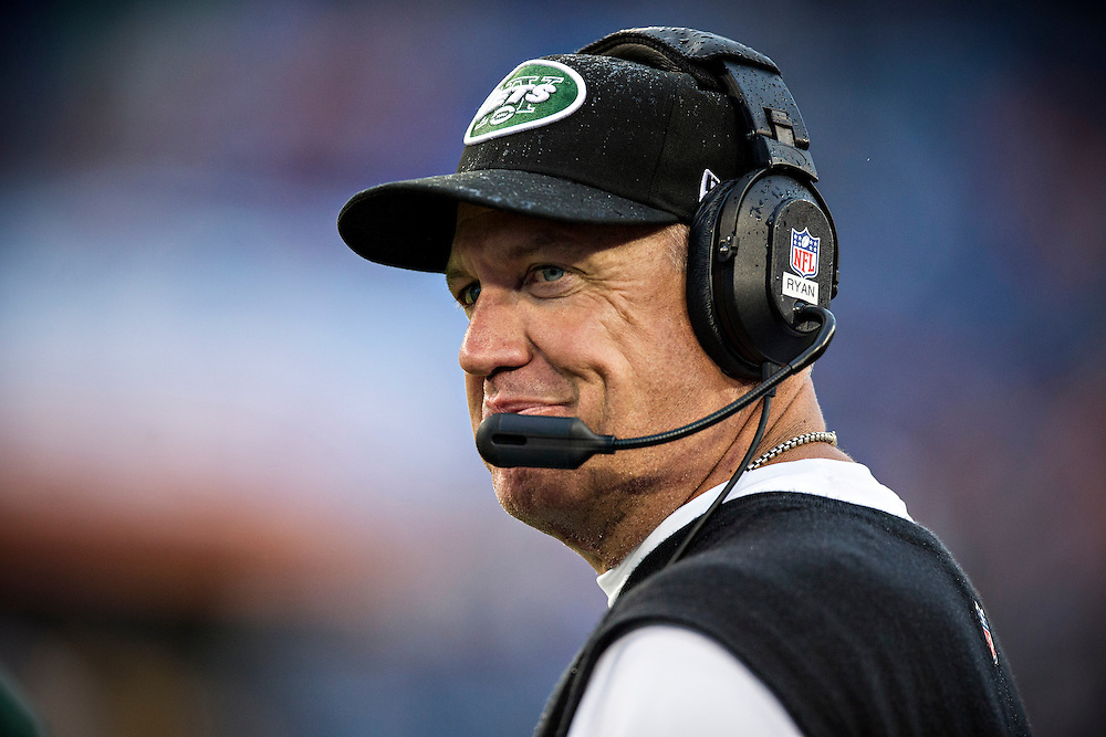 NASHVILLE, TN - SEPTEMBER 29:  Head Coach Rex Ryan of the New York Jets on the sidelines during a game against the Tennessee Titans at LP Field on September 29, 2013 in Nashville, Tennessee.  The Titans defeated the Jets 38-13.  (Photo by Wesley Hitt/Getty Images) *** Local Caption *** Rex Ryan