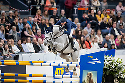 DEUSSER Daniel (GER), Jasmien v. Bisschop<br /> Göteborg - Gothenburg Horse Show 2019 <br /> Gothenburg Trophy presented by VOLVO - Stechen<br /> Int. jumping competition with jump-off (1.55 m)<br /> Longines FEI Jumping World Cup™ Final and FEI Dressage World Cup™ Final<br /> 06. April 2019<br /> © www.sportfotos-lafrentz.de/Stefan Lafrentz