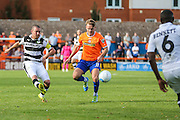 Forest Green Rovers Liam Noble (15) cross the ball during the Vanarama National League match between Braintree Town and Forest Green Rovers at the Amlin Stadium, Braintree, United Kingdom on 24 September 2016. Photo by Shane Healey.