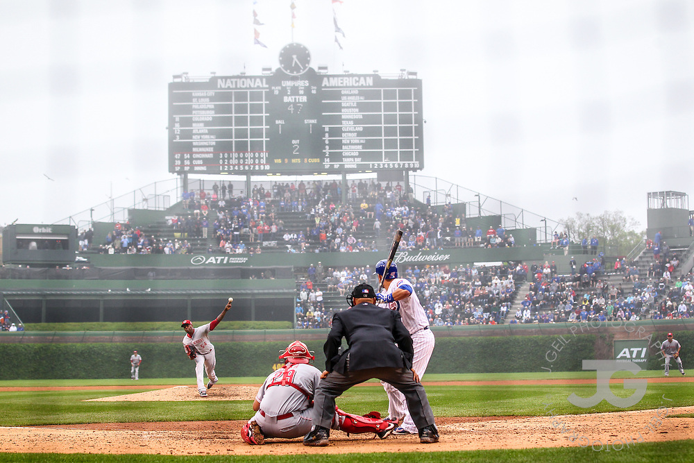 Chicago Cubs vs. Cincinnati Reds at Wrigley Field, Friday, June 12, 2015. (Photo by J.Geil)