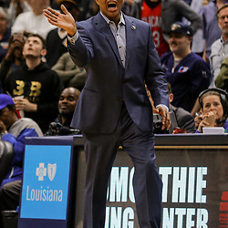 Mar 22, 2018; New Orleans, LA, USA; New Orleans Pelicans head coach Alvin Gentry against the Los Angeles Lakers during the second half at the Smoothie King Center. The Pelicans defeated the Lakers 128-125. Mandatory Credit: Derick E. Hingle-USA TODAY Sports