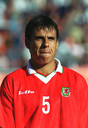 MINSK, BELARUS - Saturday, September 4, 1999: Wales' Chris Coleman before the UEFA Euro 2000 Qualifying Group One match against Belarus at the Dinamo Stadium. (Mandatory credit: David Rawcliffe/Propaganda)