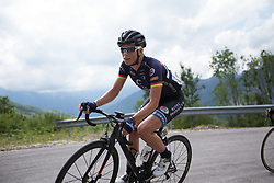 Charlotte Becker (GER) of Hitec Products Cycling Team rides  the day's main climb of Stage 2 of the Giro Rosa - a 122.2 km road race, between Zoppola and Montereale Valcellina on July 1, 2017, in Pordenone, Italy. (Photo by Balint Hamvas/Velofocus.com)