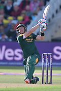 Riki Wessels watching the ball sail for four during the Natwest T20 Blast quarter final match between Nottinghamshire County Cricket Club and Essex County Cricket Club at Trent Bridge, West Bridgford, United Kingdom on 8 August 2016. Photo by Simon Trafford.