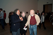 RICHARD HAMILTON; RITA DONAGH; GABRIEL OROZCO, Gabriel Orozco reception, Tate Modern, London. 18 January 2010. .-DO NOT ARCHIVE-© Copyright Photograph by Dafydd Jones. 248 Clapham Rd. London SW9 0PZ. Tel 0207 820 0771. www.dafjones.com.