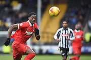 Leyton Orient striker Armand Gnanduillet during the Sky Bet League 2 match between Notts County and Leyton Orient at Meadow Lane, Nottingham, England on 20 February 2016. Photo by Jon Hobley.