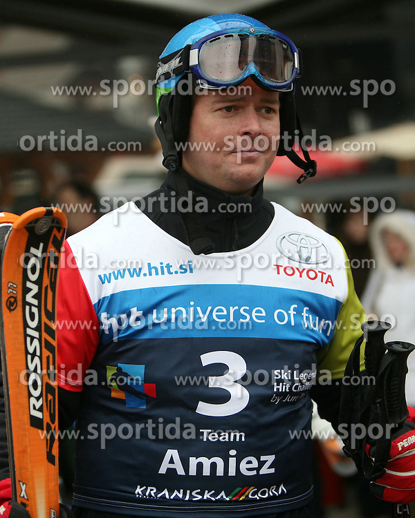 "Tilen Majnardi of HIT before the first run of ""Ski Legends HIT Challenge by Jure Kosir"" event in Kranjska Gora, Slovenia, on February 2, 2008. (Photo by Vid Ponikvar / Sportal Images)."