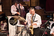 RONNIE SCOTT&rsquo;S BIG BAND BASIE &amp; ELLINGTON<br /> In a special and rare performance outside London, the UK&rsquo;s premiere jazz organisation brings its star-studded big band led by the inimitable Pete Long.<br /> St George&rsquo;s Church, Deal. &copy; Tony Nandi 2017