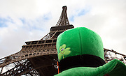 Irish fans gather at the Eiffel Tower before the World Cup play off match between France and the Republic of Ireland. Paris , France, 18th November 2009.