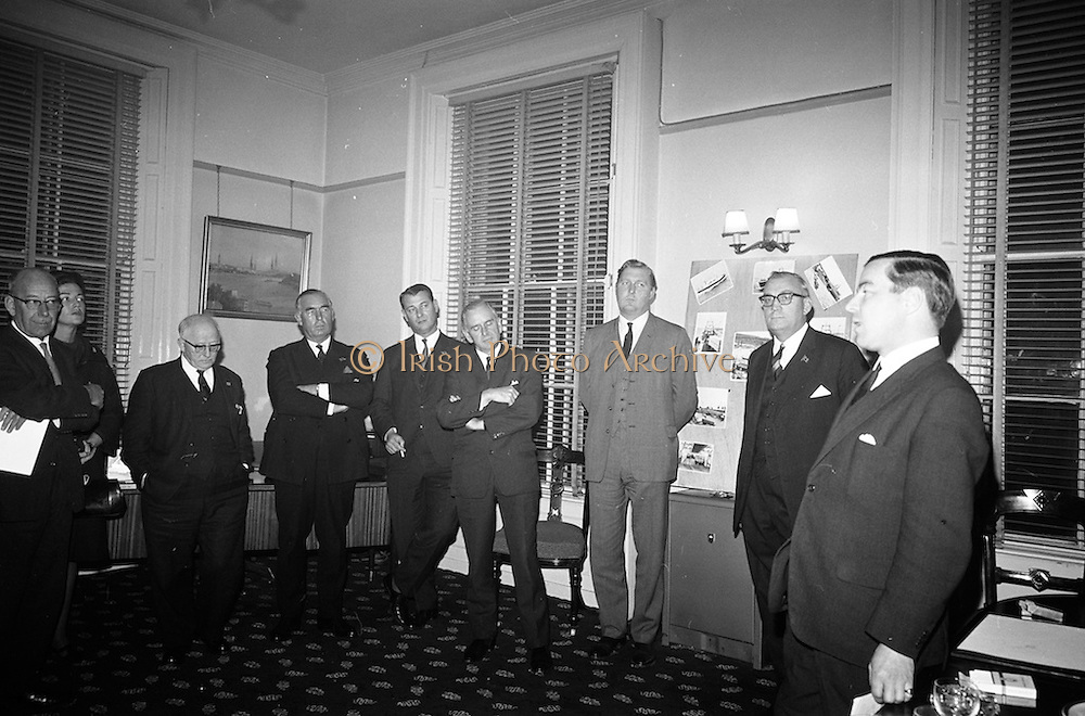 16/11/1966<br /> 11/16/1966<br /> 16 November 1966<br /> Palgrave Murphy/North Sea Ferries reception to announce the appointment of agents for North Sea Ferries in the Republic of Ireland and new Ireland - Europe travel link, at Palgrave Murphy, Eden Quay Dublin. Picture shows  Mr. John Gordon, Managing Director, Palgrave Murphy Ltd. addressing the gathering.