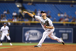 May 9, 2017 - St. Petersburg, Florida, U.S. - WILL VRAGOVIC   |   Times.Tampa Bay Rays starting pitcher Matt Andriese (35) throwing in the second inning of the game between the Kansas City Royals and the Tampa Bay Rays at Tropicana Field in St. Petersburg, Fla. on Tuesday, May 9, 2017. (Credit Image: © Will Vragovic/Tampa Bay Times via ZUMA Wire)