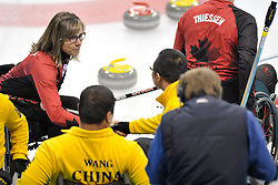 Sonja Gaudet, Qiang Zhang, Wheelchair Curling Semi Finals at the 2014 Sochi Winter Paralympic Games, Russia