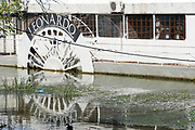 A riverboat on the Danube River in Belgrade Serbia