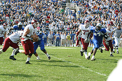 12 October 2002: Travis Turner runs the ball on an option.  Eastern Illinois University Panthers host and defeat the Colonels of Eastern Kentucky during EIU's Homecoming at Charleston Illinois.