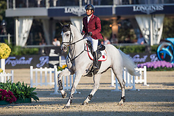 Al Ajami Faleh Suwead (QAT) - Come Soon<br /> Final First Competition<br /> Furusiyya FEI Nations Cup™ Final - Barcelona 2014<br /> © Dirk Caremans<br /> 09/10/14