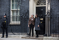 London, UK. 21st January, 2019. Prime Minister Theresa May welcomes the Prime Minister of New Zealand Jacinda Ardern to 10 Downing Street for talks.