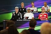 October 20, 2016: United States Grand Prix. Nico Hulkenberg (GER), Force India, Lewis Hamilton (GBR), Mercedes, Sebastian Vettel (GER), Ferrari, Kevin Magnussen, (DEN) Renault , Romain Grosjean (FRA), Haas, Valtteri Bottas (FIN), Williams Martini Racing