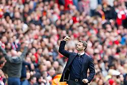 Aston Villa Manager Tim Sherwood celebrates after Christian Benteke scores a goal to level the match at 1-1 - Photo mandatory by-line: Rogan Thomson/JMP - 07966 386802 - 19/04/2015 - SPORT - FOOTBALL - London, England - Wembley Stadium - Aston Villa v Liverpool - FA Cup Semi Final.