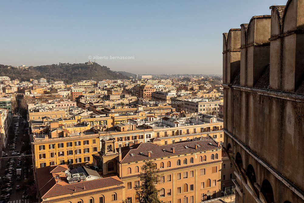 Rome, Vatican Museums, Viwe of the city in the morning