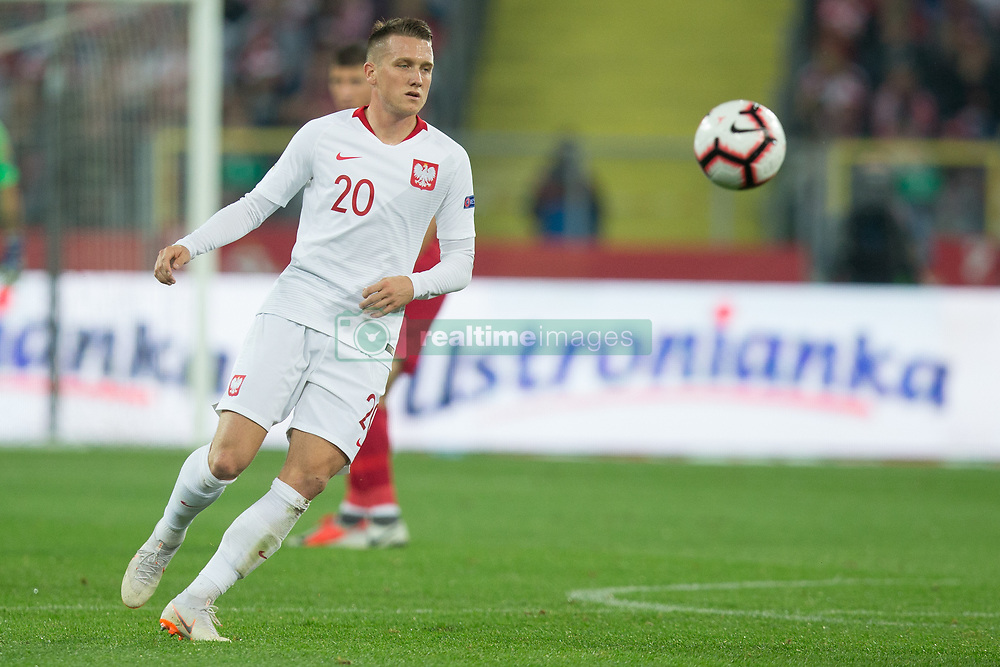 October 11, 2018 - Chorzow, Poland - Piotr Zielinski (POL) in action during the UEFA Nations League A group three match between Poland and Portugal at Silesian Stadium on October 11, 2018 in Chorzow, Poland. (Credit Image: © Foto Olimpik/NurPhoto via ZUMA Press)