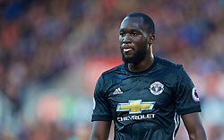 STOKE-ON-TRENT, ENGLAND - Saturday, September 9, 2017: Manchester United's Romelu Lukaku during the FA Premier League match between Stoke City and Manchester United at the Bet365 Stadium. (Pic by David Rawcliffe/Propaganda)
