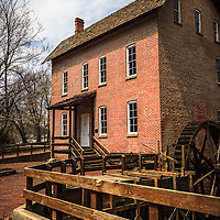 Photo of grist mill in Hobart Indiana. The Wood's Grist Mill is in Deep River County Park and was built by John Wood in the early 1800's.