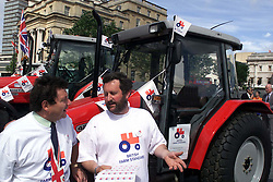 Launch of a new tractor logo for food you can trust. The logo makes it easier for  shoppers to spot food produced under british farm assurance ..Tony Blair launches the new british farm standard red tractor, June 13, 2000. Photo by Andrew Parsons / i-images..