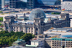 View of the Reichstag German Parliament building in Berlin, Germany.