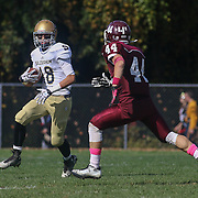 Salesianum running back NicholasMerlino (18) attempts to gain extra yards after catch in the second quarter Saturday, Oct. 17, 2015 at Concord Stadium in Wilmington.
