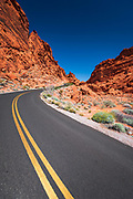 Park scenic byway, Valley of Fire State Park, Nevada USA