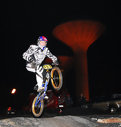 Stephen Clancy former Pro BMX rider from Dublin came down to test his skills at the opening of the Western Lakes BMX track...Pic Conor McKeown