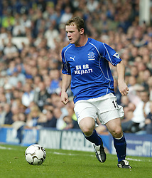 LIVERPOOL, ENGLAND - Saturday, April 19, 2003: Everton's Wayne Rooney in action against Liverpool during the Merseyside Derby Premiership match at Goodison Park. (Pic by David Rawcliffe/Propaganda)