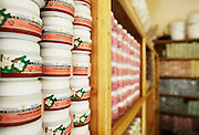 """Shea products in the stock room at """"La Maison du Karité"""" shea processing center in Siby, near Bamako, Mali on Friday January 15, 2010."""