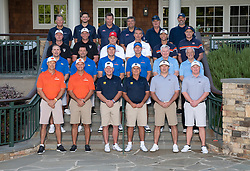Coaches group prior to the during the Chick-fil-A Peach Bowl Challenge at the Ritz Carlton Reynolds, Lake Oconee, on Tuesday, April 30, 2019, in Greensboro, GA. (Paul Abell via Abell Images for Chick-fil-A Peach Bowl Challenge)