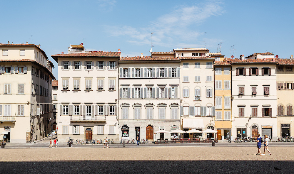 Houses in front of the Pitti Palace - Florence, Italy 2014